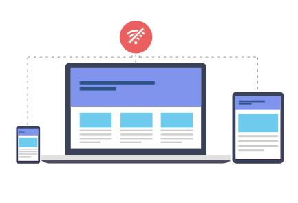 offline access- digital publishing platform