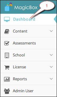 Dashboard menu