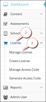 Manage license