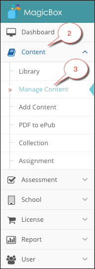 Manage content