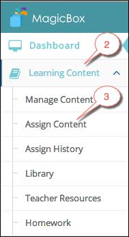 Assign content