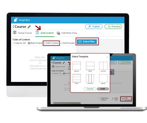 time saving course creation- content authoring tool MagicBox