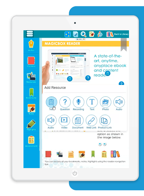 MagicBox eReader for educational publishing