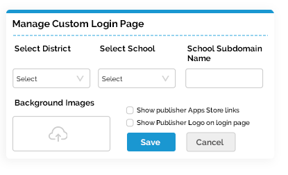 Custom logins for academic institutions