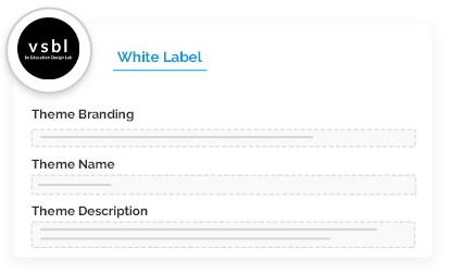 White label platform experience for educational publishers