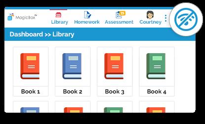 Online/offline ereader for K-12 students